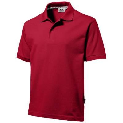 Forehand Kurzarm Poloshirt-rot(dunkelrot)-XXXL