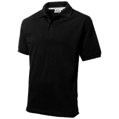 Forehand Kurzarm Poloshirt-schwarz-XXXL