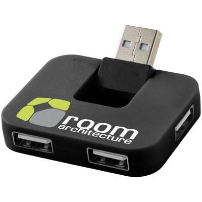 Gaia USB Hub mit 4 Anschlüssen-schwarz