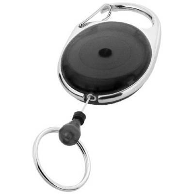Gerlos Schlüsselanhänger mit Rollerclip-schwarz