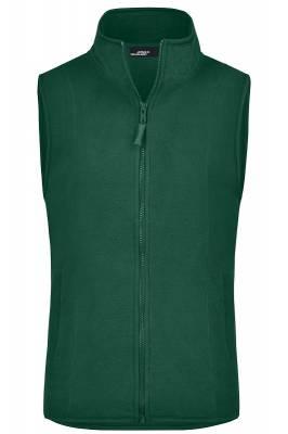 Girly Microfleece Weste JN048-grün(dunkelgrün)-XL