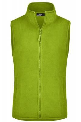 Girly Microfleece Weste JN048-grün(limettgrün)-XL