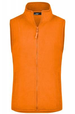 Girly Microfleece Weste JN048-orange-S