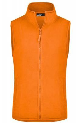 Girly Microfleece Weste JN048-orange-XL