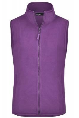 Girly Microfleece Weste JN048-purple-XXL