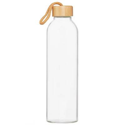 Glasflasche Bamboo 1,0 l-transparent