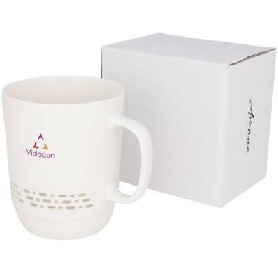 Glimpse durchsichtige Keramik-Tasse-weiß