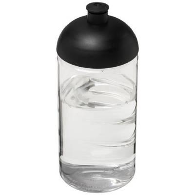 H2O Bop 500 ml Flasche mit Stülpdeckel-transparent-schwarz