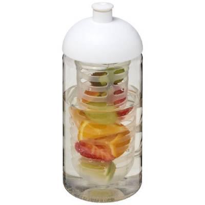 H2O Bop 500 ml Sportflasche mit Stülpdeckel und Infusor-weiß