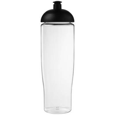 H2O Tempo 700 ml Sportflasche mit Stülpdeckel-transparent-schwarz