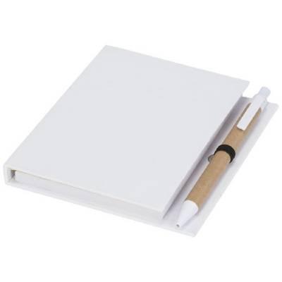 Haftnotizblock mit Stift-weiß