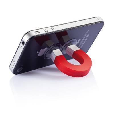 Handyhalter Saarbrücken mit Magnet - rot