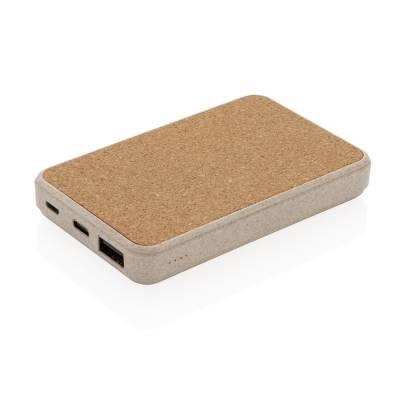 Herne 5.000 mAh Pocket-Powerbank-braun