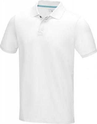 Herren Graphite Poloshirt aus GOTS Bio-Material-weiß-XS