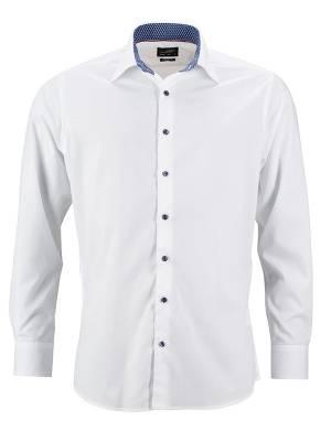 Herren Hemd Plain JN648-blau-S
