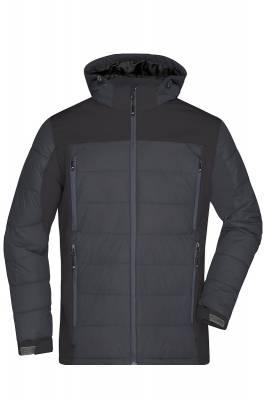 Herren Outdoor Hybrid Jacket JN1050-schwarz-XXL