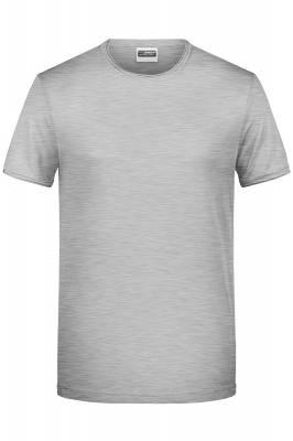 Herren T-Shirt 8002-grau(heathergrau)-S