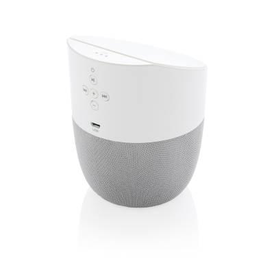 Home-Lautsprecher und Wireless-Charger-weiß