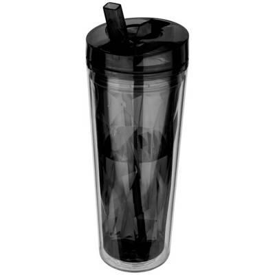 Hot & Cold Flip 'n Sip geometrische Isolierflasche-schwarz