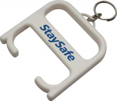 Hygienegriff mit Schlüsselanhänger-weiß