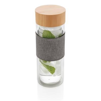 Impact doppelwandige Borosilikatglas-Flasche Fürstenau-transparent