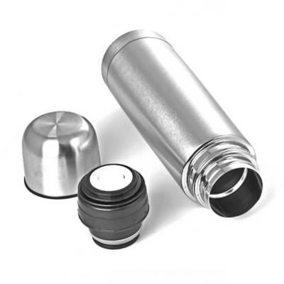 Isolierflasche Eschweiler 1 l-Eigenlager-silber