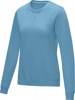 Jasper Damen Pullover mit Rundhalsausschnitt Bio Material-blau(hellblau)-XXL