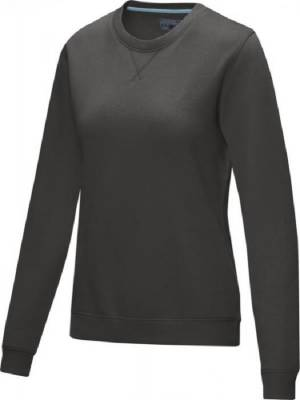 Jasper Damen Pullover mit Rundhalsausschnitt Bio Material-grau-XL