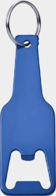 Kapselheber Bottle aus Aluminium mit Schlüsselring-blau(kobaltblau)