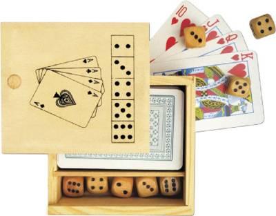 Karten und Würfelspiel Nevada in Holzbox