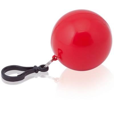 Kinder-Poncho im Ball mit Karabinerhaken-gelb-one size