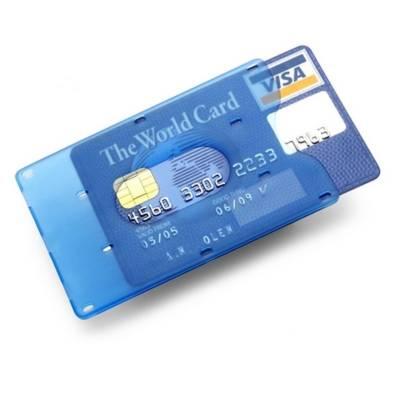 Kreditkartenhalter Lippstadt-blau