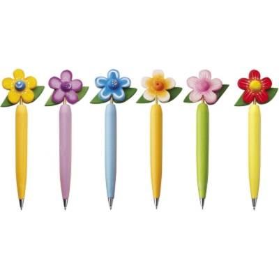 Kugelschreiber-Set Blumen, 6 St.