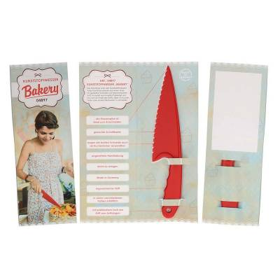 Kunststoffmesser Bakery mit Klappkarte-rot(standard)