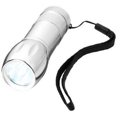 LED-Taschenlampe aus Metall - silbern