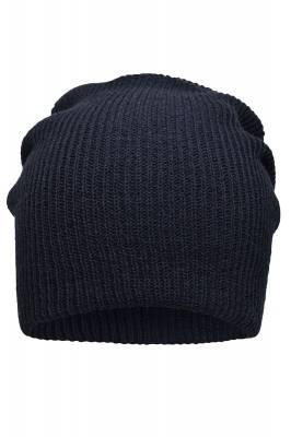 Lässige überlange Beanie Bronson Cori-blau(navyblau)-one siz