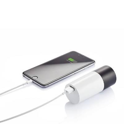 Lautsprecher-Powerbank Kombination - weiß - 4200 mAh