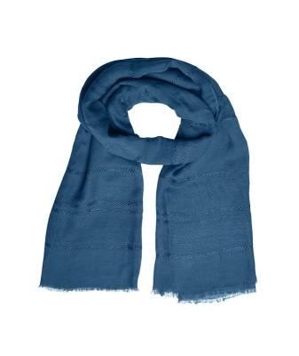 Leichter Sommerschal Fico-blau-one size-unisex