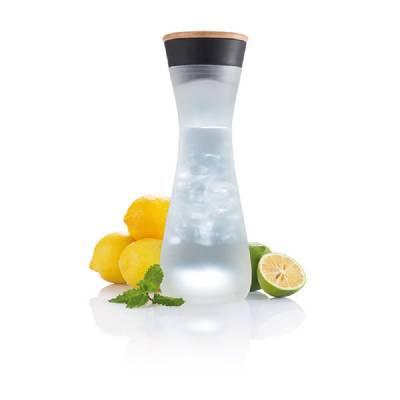 Lumm Glaskaraffe mit Licht - schwarz