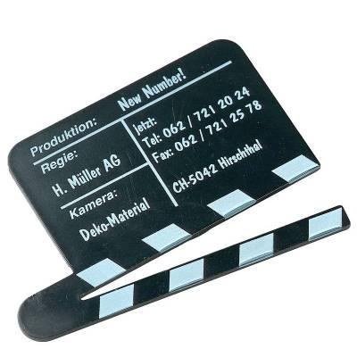 Magnet Filmklappe-schwarz