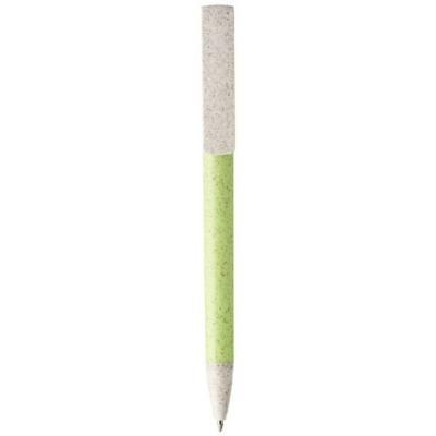 Medan Kugelschreiber und Telefonhalterung aus Weizenstroh-grün(apfelgrün)-blaue Mine