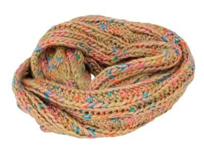Mehrfarbiger Loop-Schal Aden-braun-one size-unisex