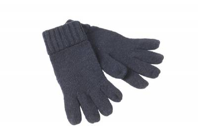 Melange Handschuh Basic-blau-S/M-unisex
