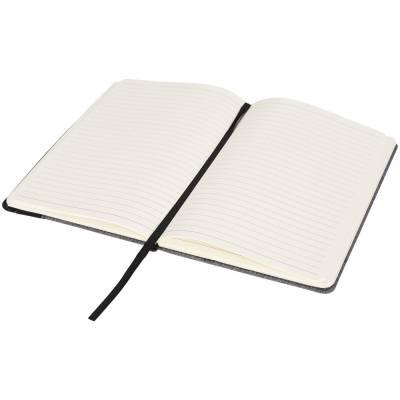 Meliertes A5 Notizbuch mit Lederoptik-Seite-schwarz