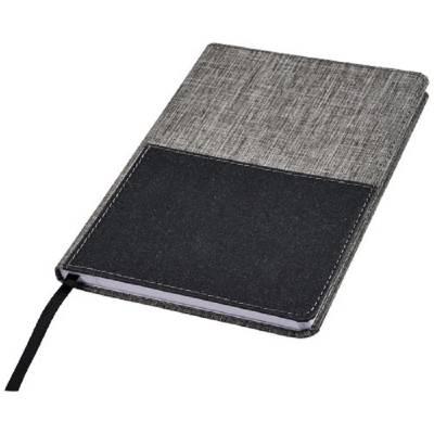 Marksman Mera RPET A5 Notizbuch mit Fronttasche-grau