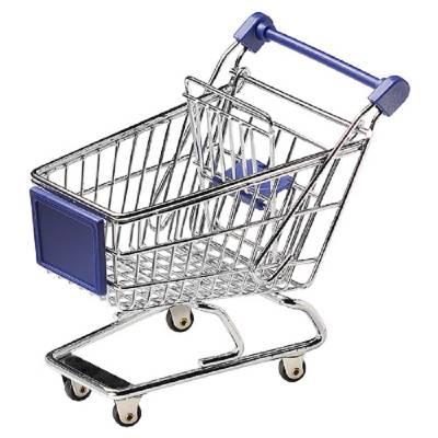Miniatur-Einkaufswagen, Räder fest