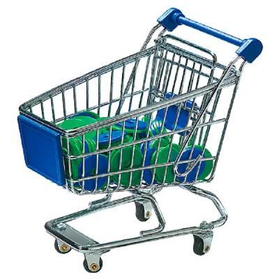 Miniatur-Einkaufswagen mit Chips