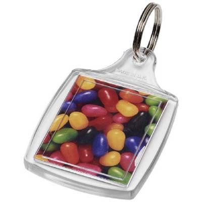Mode klassischer Kunststoff-Schlüsselanhänger-transparent