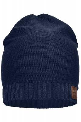 Moderne Baumwoll-Strickmütze Bette-blau-one size-unisex