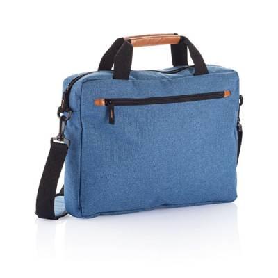 Modische Duo Tone Laptoptasche PVC frei - blau